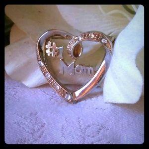 Vintage Heart #1 Mom Brooch